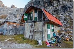 Leonie at the biv (Brenta Dolomites 2016)