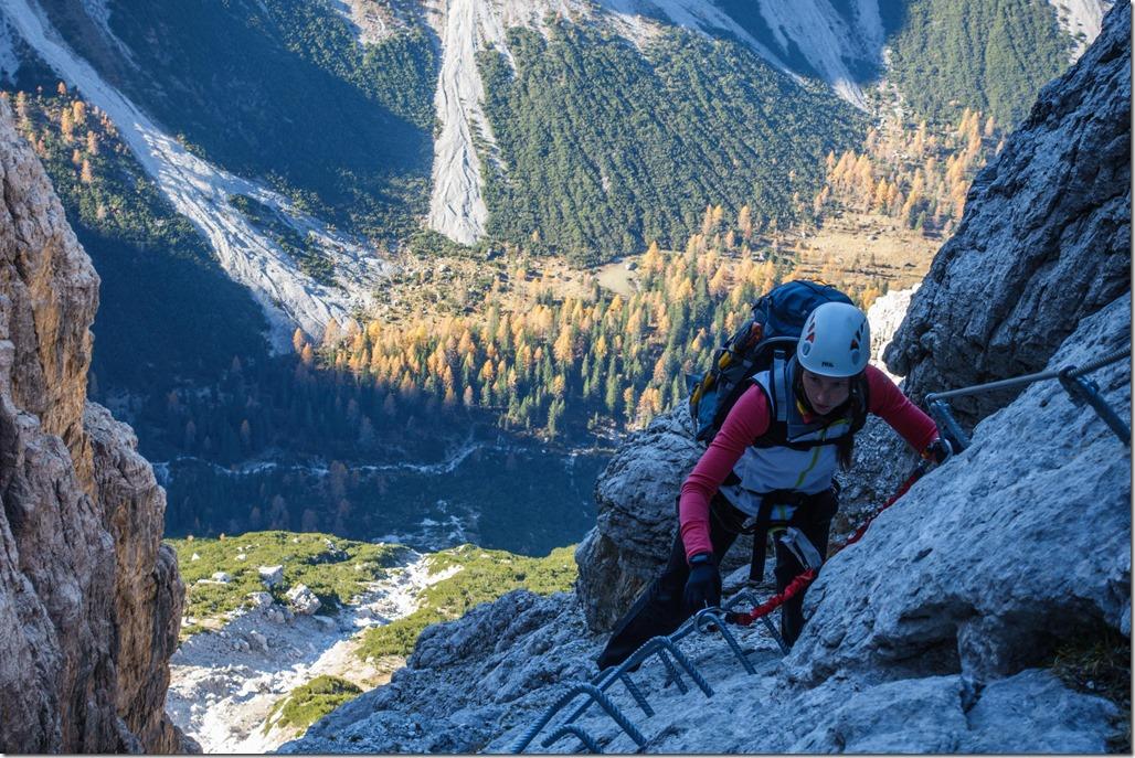 Leonie climbing 2 (Brenta Dolomites 2016)