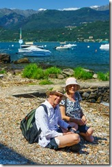 Mum and Dad on Isola Superiore (Lago Maggiore)