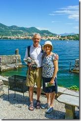 Mum and dad on Isola Madre (Lago Maggiore)