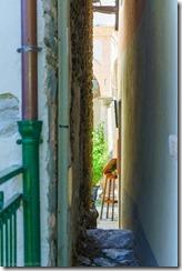 Narrow alleyway on Isola Superiore (Lago Maggiore)
