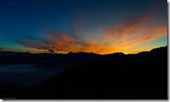 Nice sunset in the evening from the Solsteinhaus (Exploring Karwendel)