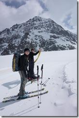 Skinning up (Ski touring Linker Fernerkogel, Austria)