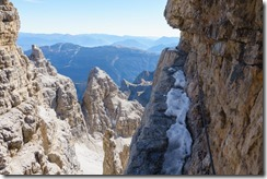 The route (Brenta Dolomites)