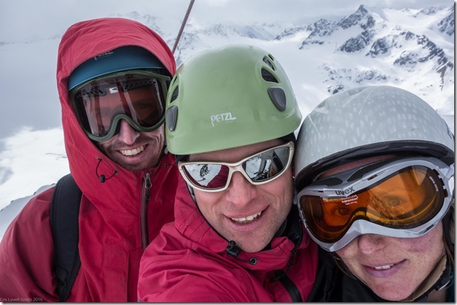 Us at the summit (Ski touring Linker Fernerkogel, Austria)