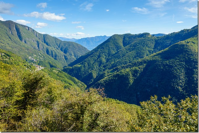 View back down the valley (Climbing in Ticino Oct 2019)