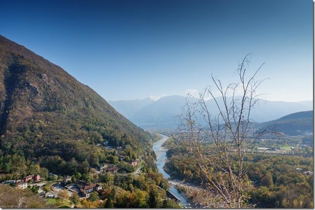 View from the climb (Multipitch in Ticino Oct 2017)