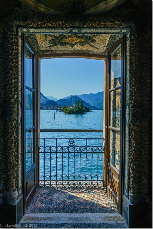 View from the palace on Isola Bella