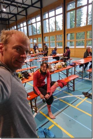 Getting ready before the start (Transruinaulta Marathon Oct 2018)