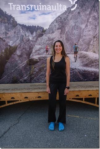 Leonie at the finish(Transruinaulta Marathon Oct 2018)