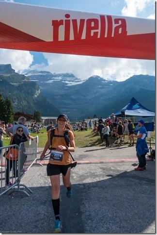 Leonie crosses the finish line (Humani Trail 2016)