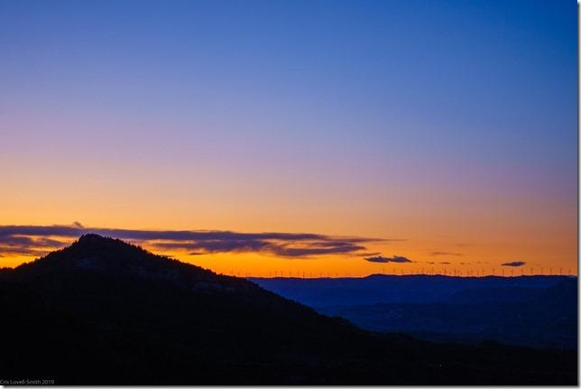 Sunset from Montserrat (Visiting Barcelona 2019)