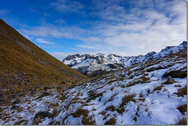 View back from Tarn Col (Tramping Edward's Hut)