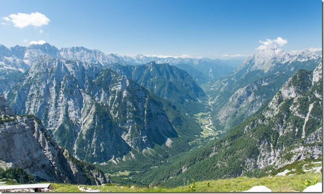 View down to Trenta (Summer Holidays 2015)