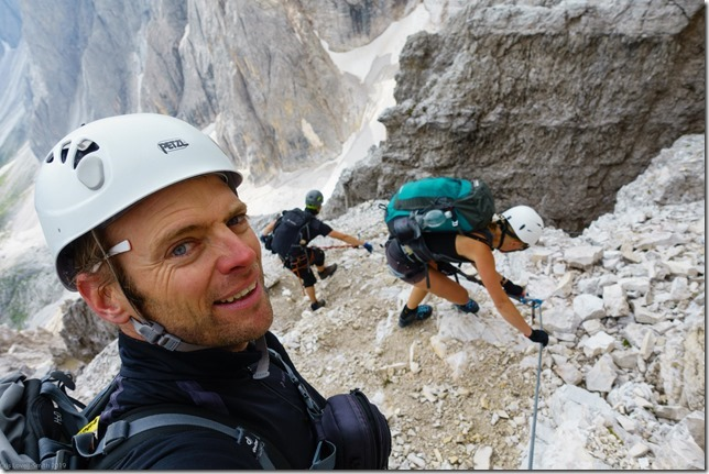 Descending to Rifugio Berti (Dolomitten ohne Grenzen 2019)