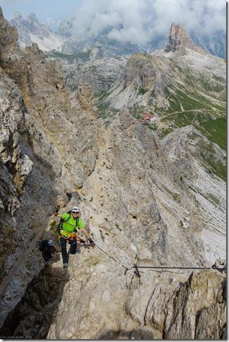 Johannes climbing (Dolomitten ohne Grenzen 2019)