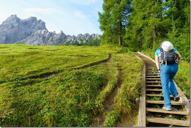 Johannes going up (Dolomitten ohne Grenzen 2019)