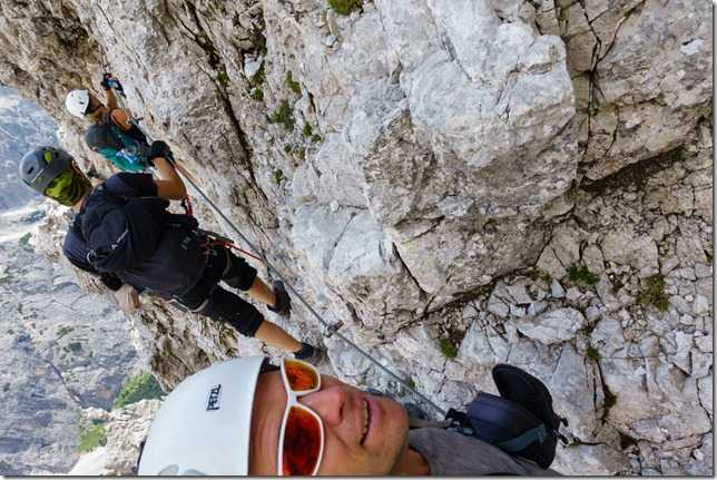 On the ferrata (Dolomitten ohne Grenzen 2019)