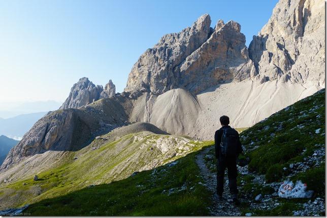 Phil sets off (Dolomitten ohne Grenzen 2019)