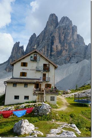 The Rifugio Zsigmondy Huette (Dolomitten ohne Grenzen 2019)