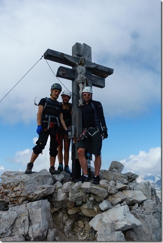 Us at the top of Croda Rossa di Sesto (Dolomitten ohne Grenzen 2019)