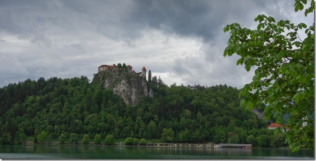 View towards castle above Lake Bled (Slovenia 2013)