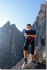 Phil strikes a heroic pose (Dolomitten ohne Grenzen 2019)
