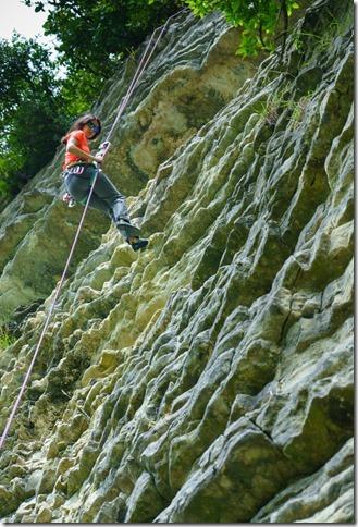 Ari climbing (Ari visits 2020)