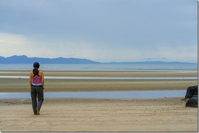 At wainui beach (Ari visits 2020)