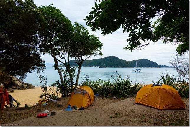 Camp at Watering Cove (Ari visits 2020)