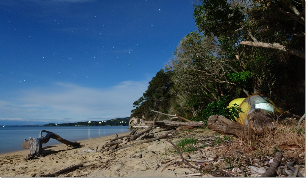 Camping on the beach (Abel Tasman Oct 2020)