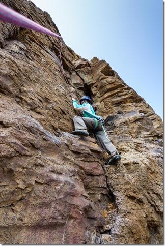 Climbing at cattle stop crag (Ari visits 2020)