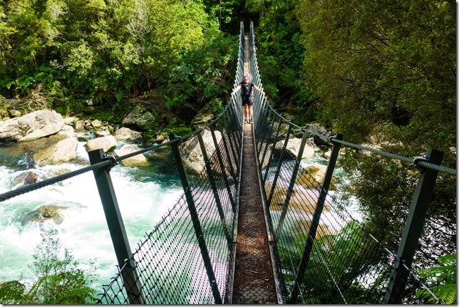 Cris on the bridge (Ari visits 2020)