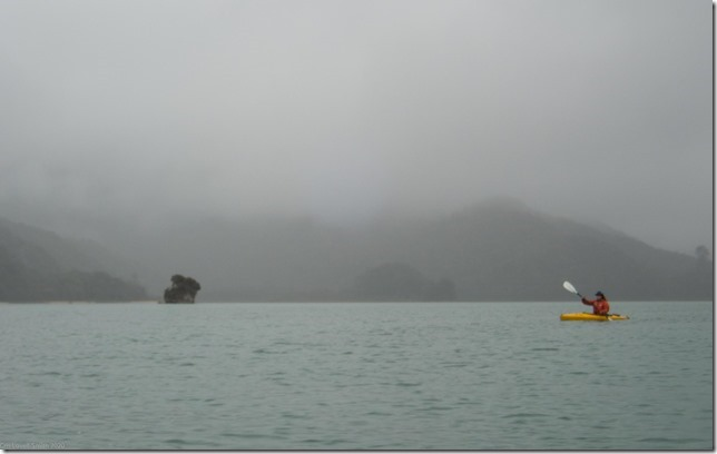 Grey day at the Abel Tasman (Ari visits 2020)