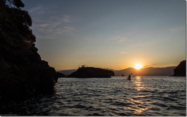 Kayaking in the evening (Ari visits 2020)