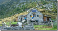 Leonie at the hut (Walks in Ticino Sept 2018)