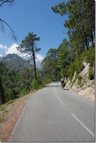 Leonie riding upwards (Corsica 2014)