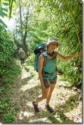 Leonie smiling (Walks in Ticino Sept 2018)