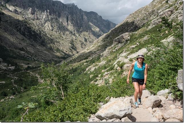Leonie walking up (Corsica 2014)