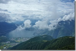 Looking down from the summit (Walks in Ticino Sept 2018)