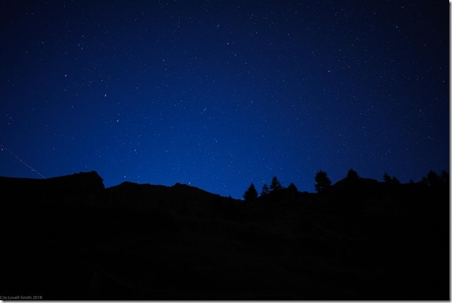 More night sky (Walks in Ticino Sept 2018)