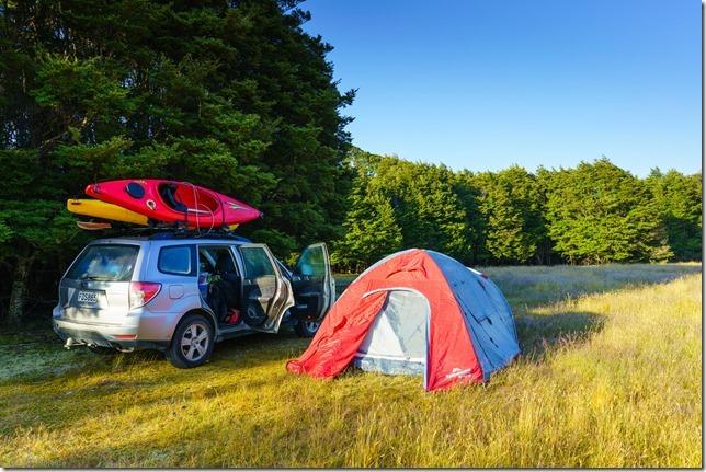 Morning at our camp (Ari visits 2020)