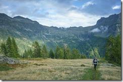 Mum arriving at the hut (Walks in Ticino Sept 2018)
