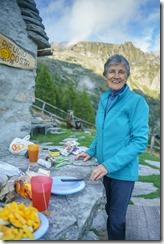 Mum at the hut 2 (Walks in Ticino Sept 2018)