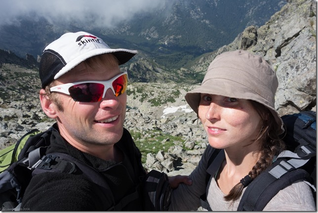 On the summit of Monte d'Oru (Corsica 2014)