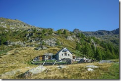 The hut in the morning (Walks in Ticino Sept 2018)