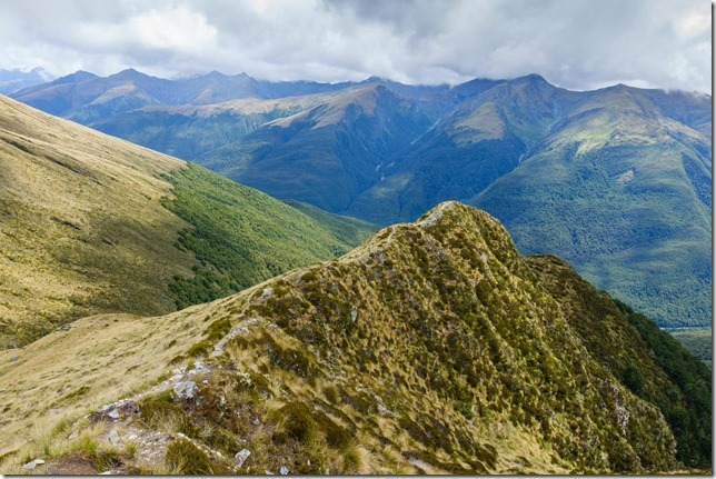 View down the ridge from Brewster Hut (Ari visits 2020)