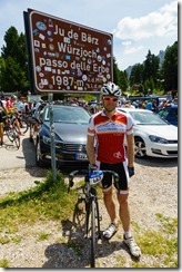 Cris at the finish (Giro delle Dolomiti 2019)