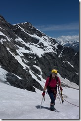 Emily with gear (Tramping Ice Lake Dec 2015)