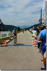 Leonie finishing stage 2 (Giro delle Dolomiti 2019)